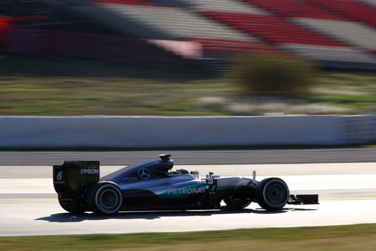 Mercedes barcellona F1