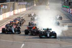 GP Azerbaigian 2021 Perez Vettel hamilton